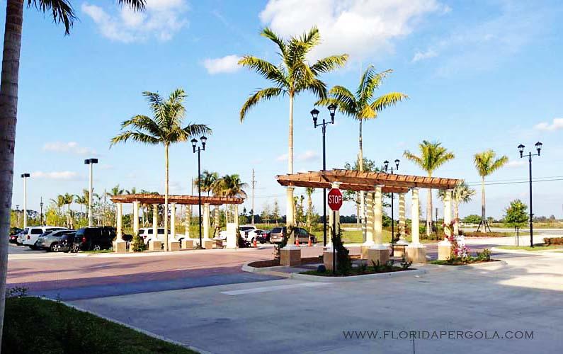 Pergola Entrance-Delray Publix Shopping Center