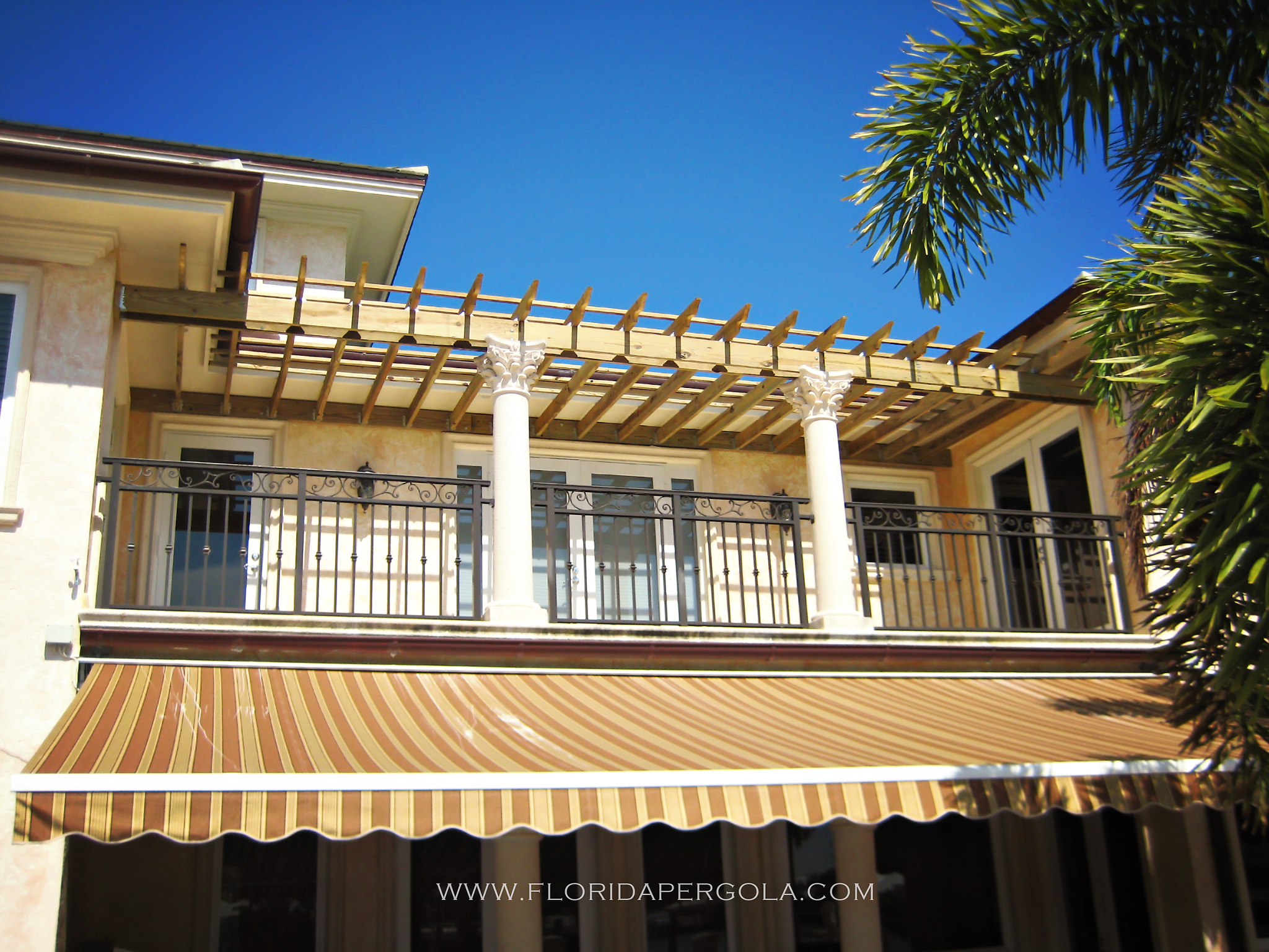Attached Balcony Pergola