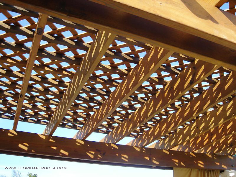 Lattice Design above Pergola