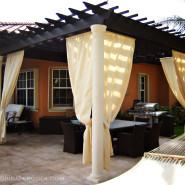 Traditional Pergola with Sunbrella curtains