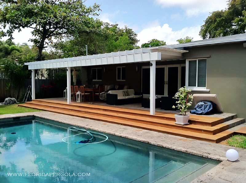 Ipe Deck and Attached Pergola