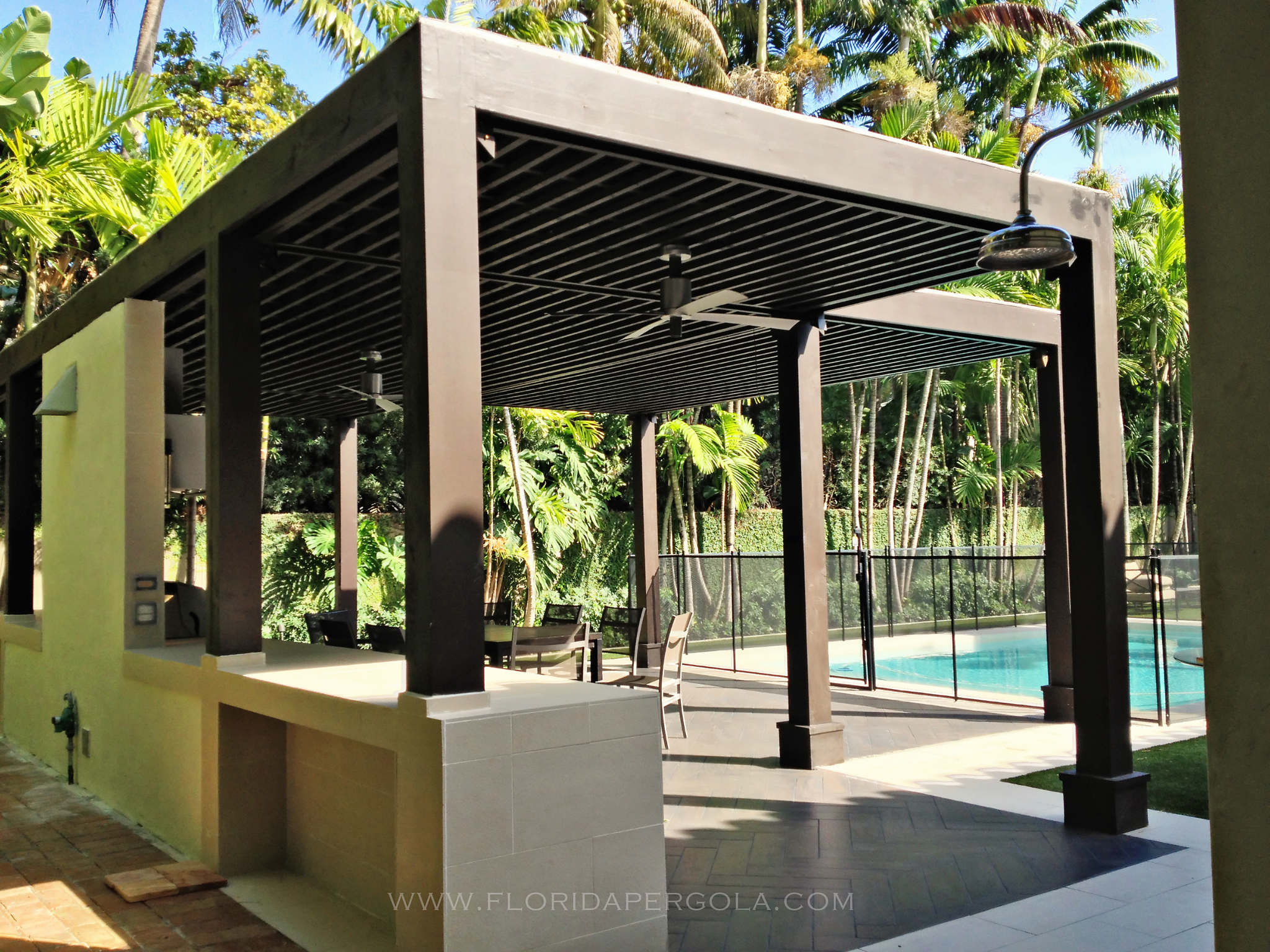 contemporary pergola florida pergola. Black Bedroom Furniture Sets. Home Design Ideas