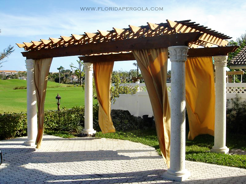 Pergola with Keystone Columns
